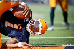 UTEP's Kai Locksley scores a touchdown against Charlotte during the game Saturday, Nov. 9, at the Sun Bowl in El Paso.