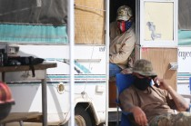 United Constitutional Patriots - New Mexico Border Ops Monday, April 22, in Anapra, N.M. Sundland Park police and Union Pacific police say they will no longer be able to camp at their current site on Union Pacific property and will need to vacate by Friday.