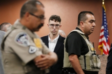 El Paso Walmart mass shooter Patrick Crusius pleads not guilty during his arraignment Thursday, October, 10, 2019 in the 409th state District Court with Judge Sam Medrano presiding. Crusius, a 21-year-old male from Allen, Texas, stands accused of killing 22 and injuring 25 in the Aug. 3 mass shooting at an East El Paso Walmart in the seventh deadliest mass shooting in modern U.S. history and third deadliest in Texas.